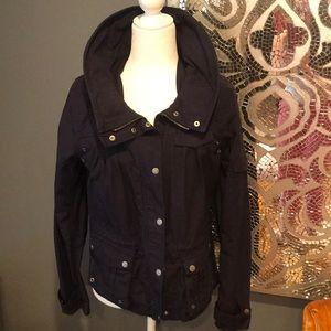 Navy H&M Utility Jacket! Size 8! Cinch waist!